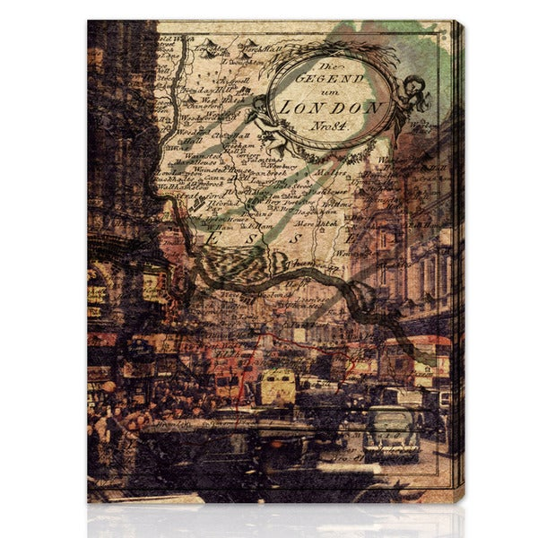 Oliver Gal Artist Co. 'London Classic' Gallery-wrapped Canvas Art