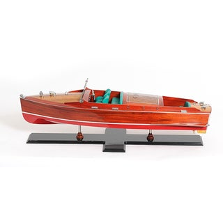 Old Modern Handicrafts Chris Craft Runabout Painted Model Boat