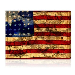 Oliver Gal Artist Co. 'The Flag' Gallery-wrapped Canvas Art