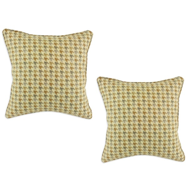 Rustic Dune Square Accent Throw Pillows (Set of 2)