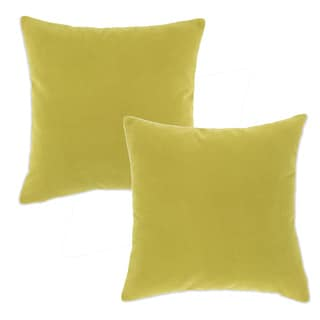 Ono Leaf Green 19-inch Square Accent Throw Pillows (Set of 2)