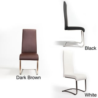 Deena Brushed Frame and Leatherette High-back Side Chair
