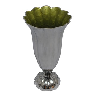 Kindwer Aluminum Scalloped 11-inch Vase