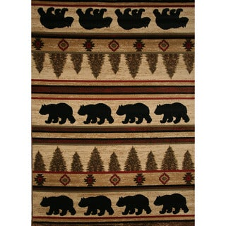 Rustic Lodge Big Bear Area Rug (5'3 x 7'3)