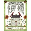House Welcome' Decorative Art Paper Print (Unframed)