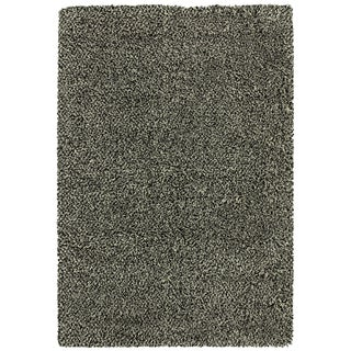 Indoor Black/ Ivory Shag Rug (9'10 x 12'7)