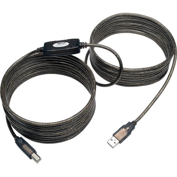 Tripp Lite 25ft USB 2.0 Hi-Speed Active Repeater Cable USB-A to USB-B