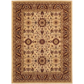 Anatolia Antique Kashan/ Cream-Red Rug (3'11 x 5'6)