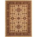 Anatolia Antique Kashan/ Cream-Red Area Rug (5'3 x 7'6)