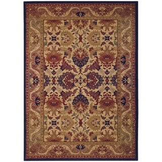 Anatolia Royal Plume/ Navy-Port Wine Area Rug (3'11 x 5'6)