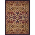 Anatolia Royal Plume/ Navy-Port Wine Area Rug (8'2 x 11'5)