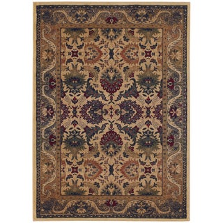 Anatolia Royal Plume/ Cream-Plum Rug (3'11 x 5'6)