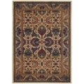 Anatolia Royal Plume/ Cream-Plum Area Rug (5'3 x 7'6)