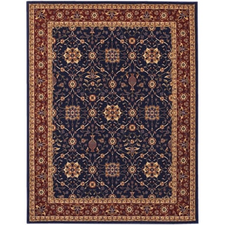 Anatolia All Over Vase/ Navy-Red Area Rug (3'11 x 5'6)