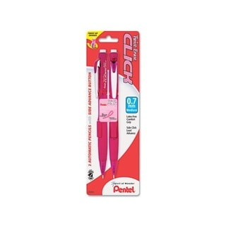 Pink Ribbon Twist-Erase CLICK 0.7 mm Mechanical Pencil (Pack of 2)