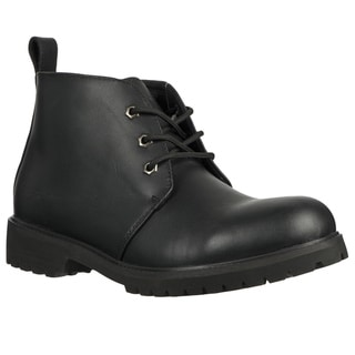 Lugz Men's 'Chukka' Black Leather Lace-up Ankle Boots