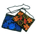 Handcrafted Floral Velvet Long Strap Makeup Bag (Guatemala)