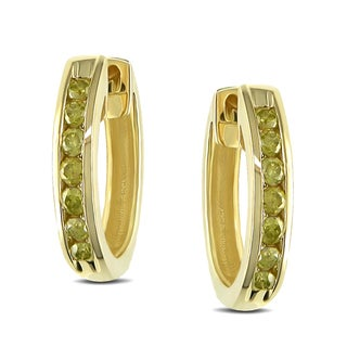 Miadora 10k Yellow Gold 1/4ct TDW Yellow Diamond Earrings (I2-I3)