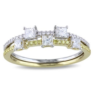 Miadora 14k Two-tone Gold 3/5ct TDW Diamond Ring Set (G-H, SI1-SI2)