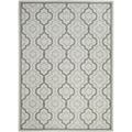 Poolside Light Grey Indoor Outdoor Rug (4' x 5'7)