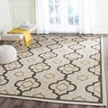 Poolside Light Grey Indoor Outdoor Rug (5'3 x 7'7)