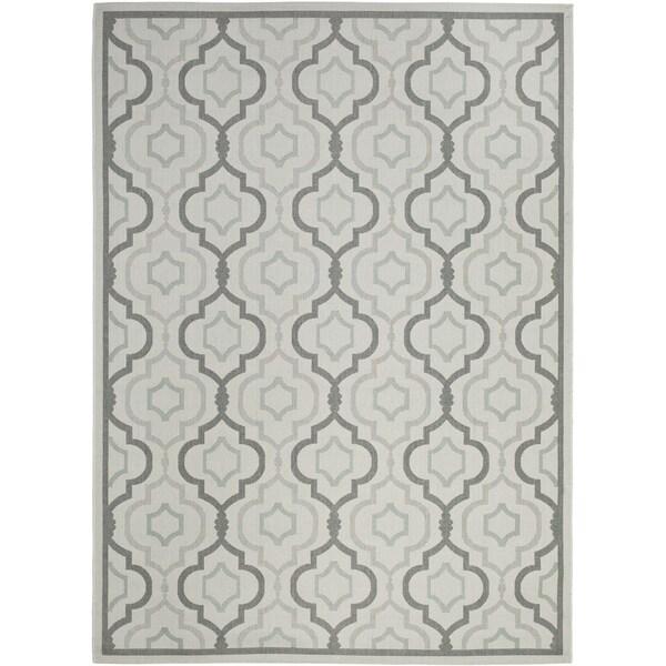 Safavieh poolside light grey indoor outdoor rug 8 39 x 11 39 2 for 7x9 bathroom designs
