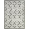Poolside Light Grey Indoor Outdoor Rug (8' x 11'2)