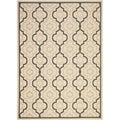 Poolside Beige/ Black Indoor Outdoor Rug (5'3 x 7'7)