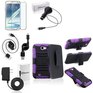 BasAcc Holster/ Protector/ Charger for Samsung Galaxy Note II N7100