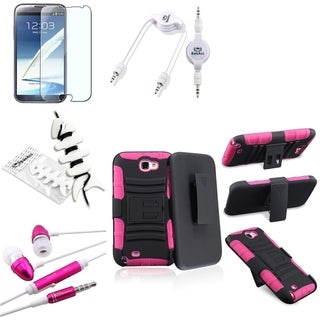 BasAcc Holster/ Protector/ Headset for Samsung Galaxy Note II N7100