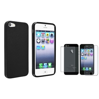 BasAcc Black Skin Veins TPU Case/ Screen Protector for Apple iPhone 5