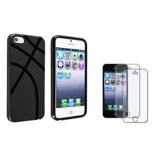 BasAcc Basketball TPU Case/ Screen Protector for Apple iPhone 5