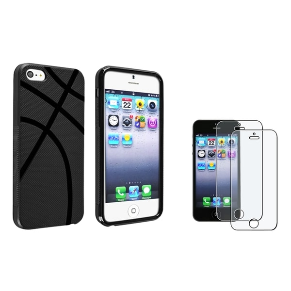 INSTEN Basketball TPU Phone Case Cover/ Screen Protector for Apple iPhone 5