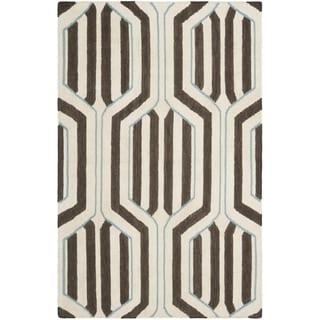 Safavieh Handwoven Moroccan Reversible Dhurrie Ivory Wool Area Rug (8' x 10')