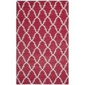 Safavieh Hand-woven Moroccan Dhurrie Red Wool Rug (8' x 10')