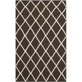 Handwoven Moroccan Dhurrie Brown Wool Area Rug (3' x 5')