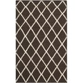 Safavieh Handwoven Moroccan Reversible Dhurrie Brown Wool Area Rug (3' x 5')