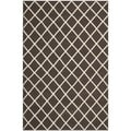 Safavieh Handwoven Moroccan Dhurrie Brown Wool Area Rug (5' x 8')