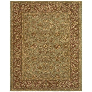 Safavieh Handmade Golden Jaipur Green/ Rust Wool Rug (9' x 12')