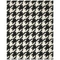 Safavieh Hand-woven Moroccan Reversible Dhurrie Hounds Tooth Reversible Dhurrie Black Wool Rug (5' x 8')
