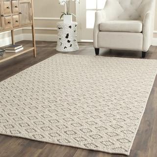 Safavieh Diamonds Taupe Sisal Wool Rug (2' x 8')
