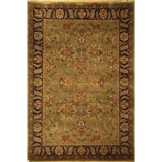 Safavieh Hand-knotted Dynasty Green/ Black Wool Rug (5' x 8')