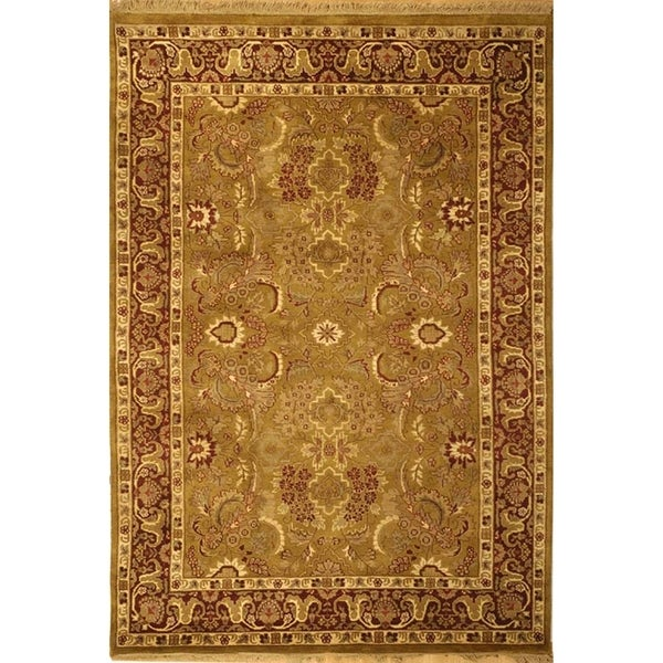 Safavieh Hand-knotted Dynasty Gold/ Red Wool Rug (4' x 6')