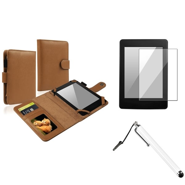 BasAcc Leather Case/ Protector/ Stylus for Amazon Kindle Paperwhite