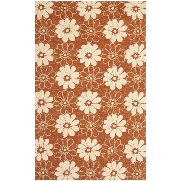 Safavieh Hand-hooked Four Seasons Indoor/ Outdoor Rust Rug (3'6 x 5'6)