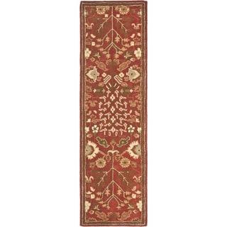 Safavieh Handmade Heritage Tree of Life Red Wool Rug (2'3 x 12')