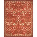 Handmade Heritage Tree of Life Red Wool Rug (8'3 x 11')