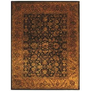 Safavieh Handmade Golden Jaipur Black/ Gold Wool Rug (9' x 12')