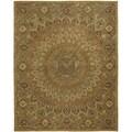 Safavieh Handmade Heritage Medallion Light Brown/ Grey Wool Rug (9' x 12')