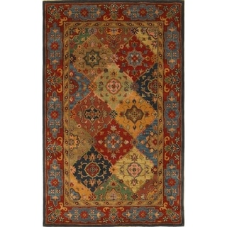 Handmade Heritage Majesty Red Wool Rug (5' x 8')